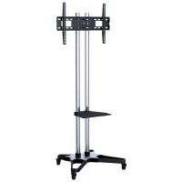 Q1021S: Heavy Duty, Mobile TV Cart / Trolley with mount