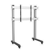 QTL09-812FW: Commercial, Super Heavy Duty, Extra Large Aluminium Interactive Display Carts with 150kg weight loading