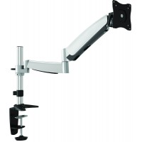 QDT04-C012 - Counterbalance, Polished Aluminium LCD / LED Desk Mount (Single)