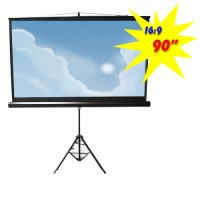 "PDSA90 - Tripod Portable Projection Screen, 90"" Diagonal, 16:9 Aspect Ratio (2.00m x 1.12m)"