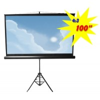 "PDSC100 - Tripod Portable Projection Screen, 100"" Diagonal, 4:3 Aspect Ratio (2.00m x 1.50m)"
