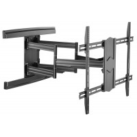 QPA57-686A: Super Heavy Duty, Extra-Large, Articulating Curved and Flat TV Wall Mount