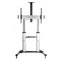 QTL04-610TW: Extra Large, Aluminium Mobile TV Cart / Video Conferencing Trolley with 100kg weight loading