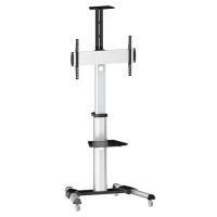 QTV04-46TW: Multi functional, Aluminium, TV Trolley with height Adjustment