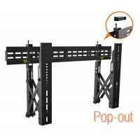 QW02-48T: Commercial Economy Video Wall mount (Landscape) with pop-out function