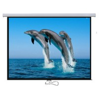 "PSBC-100 - 100"" Aluminum Auto-lock Manual Projection Screen"
